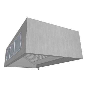 Boxed Wall Canopy with Air Supply 1500x1200mm