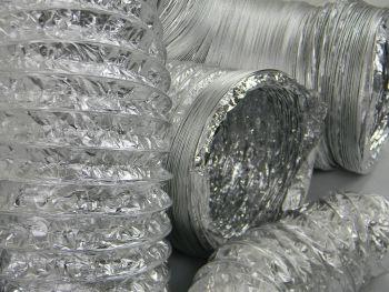 Aluminium Foil Flexible Ducting 100mm