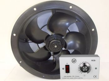 S&P Short Case Axial Fan 315mm + REB-1 Speed Controller