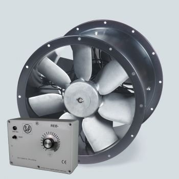 S&P Contrafoil Turbo Prop Twin Axial Fan 450mm + REB-6 Speed Controller